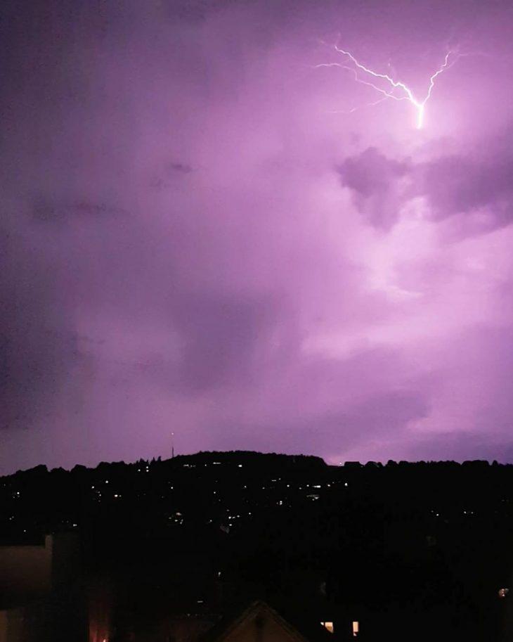 Enjoying natures own lightshow  thunder lightning nofilter stgallen hellip
