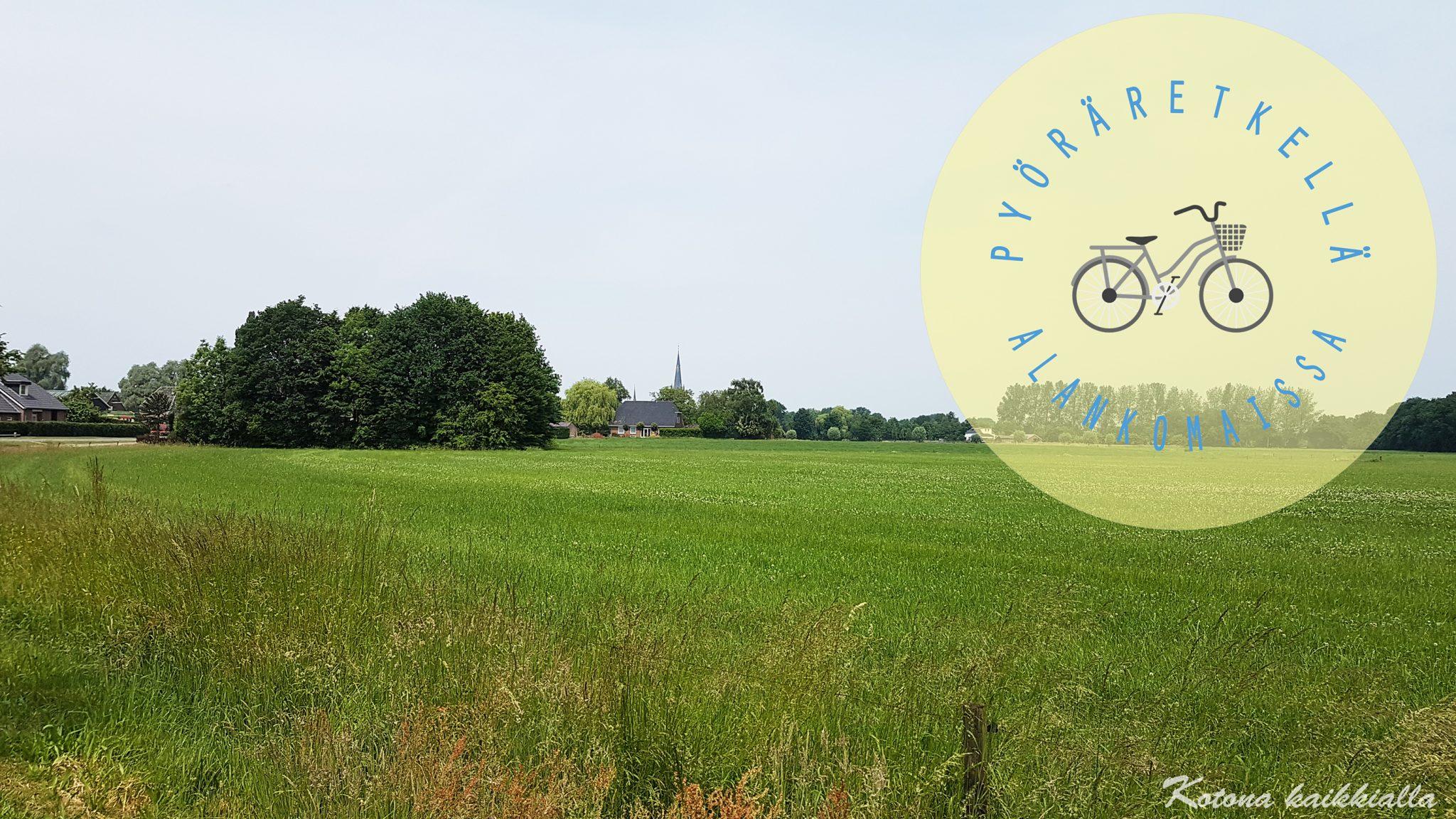 Maisema pyöräretki Alankomaissa