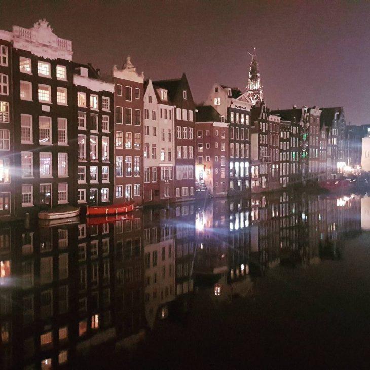Amsterdam night amsterdam iamsterdam netherlands nederland instatravel nightphotography canalhouses mondolythellip