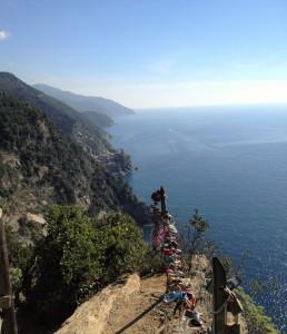 Piti käydä viemässä lukko tällaiseen paikkaan... Cinque Terre Italia