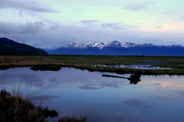 Varhainen aamu Alaskassa