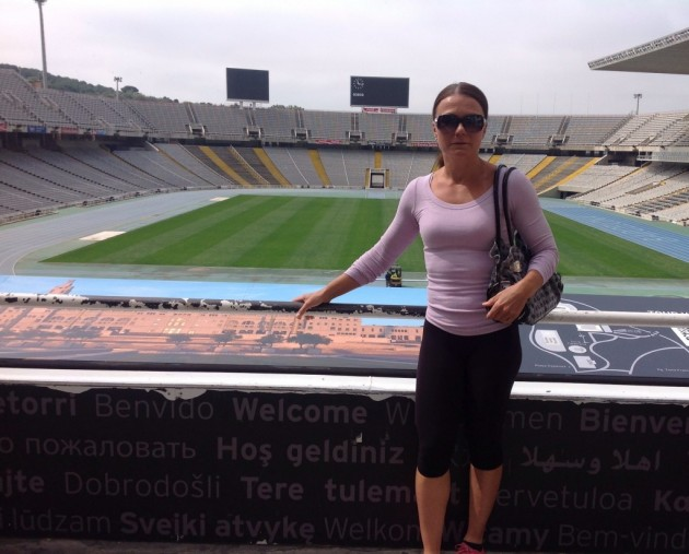 Olympiastadionilla. Barcelonan olympialaiset olivat vuonna 1992
