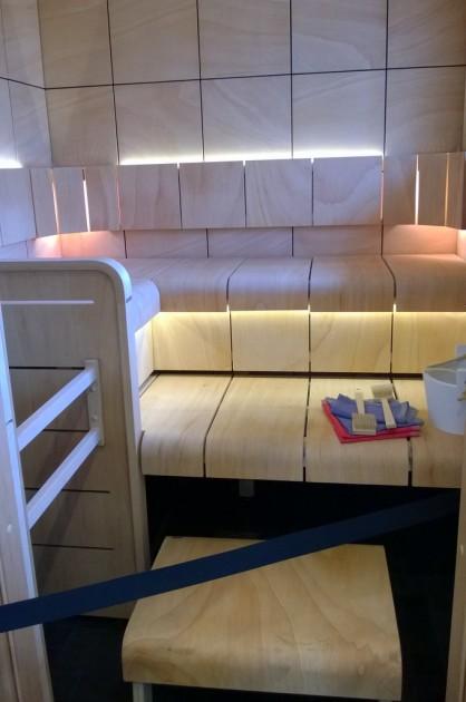 Hiukan erikoisempaa tyyliä edustava sauna
