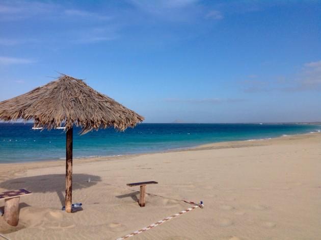 Vaalea avara hiekkaranta ja turkoosi meri, Santa Marian ranta oli hieno!