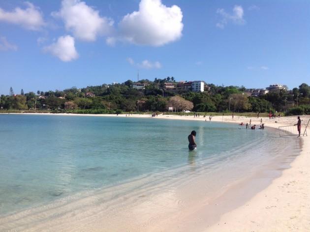Montego Bayn paikallista rantaa
