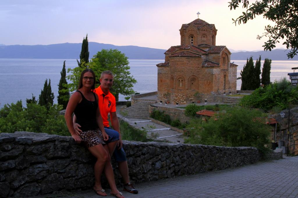 Makedonian Ohrid-järvellä