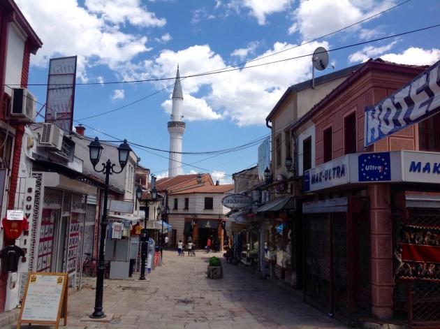 Skopjen vanhaa kaupunkia