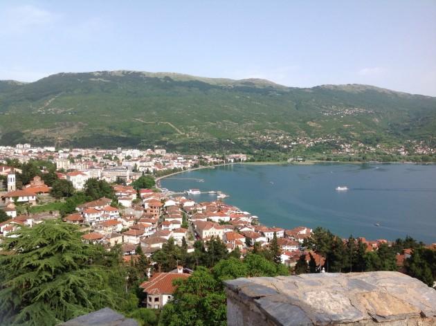 Ohridin kaupunki ja samanniminen järvi