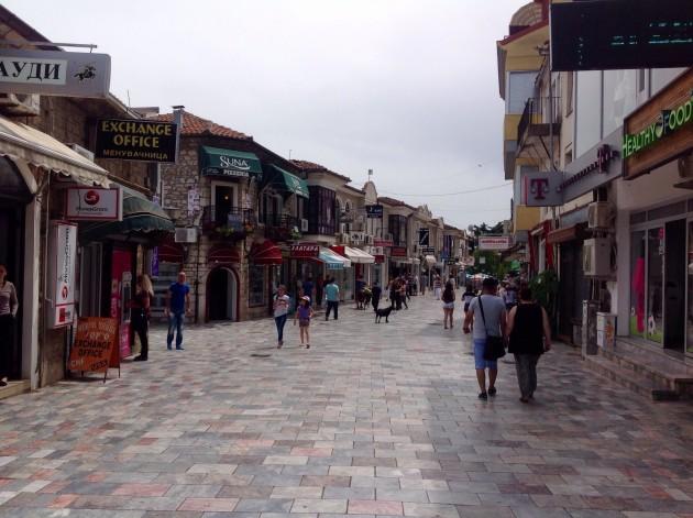 Ohridin kävelykatua