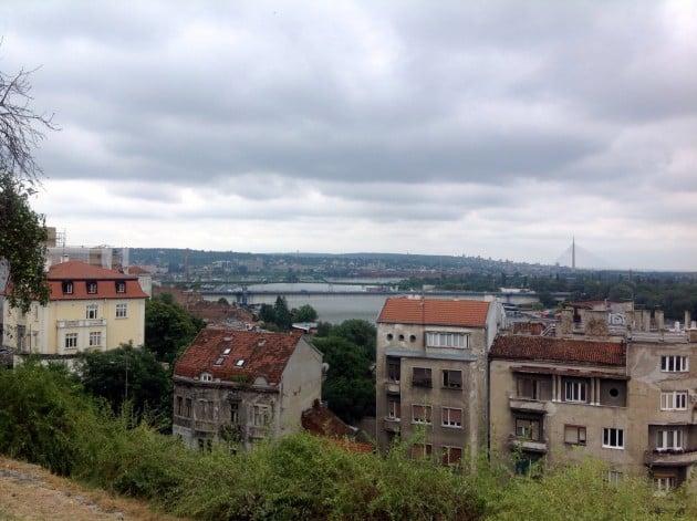 Näkymiä kaupunkiin linnoitukselta. Pilvinen sää haittasi hieman kuvaamista.