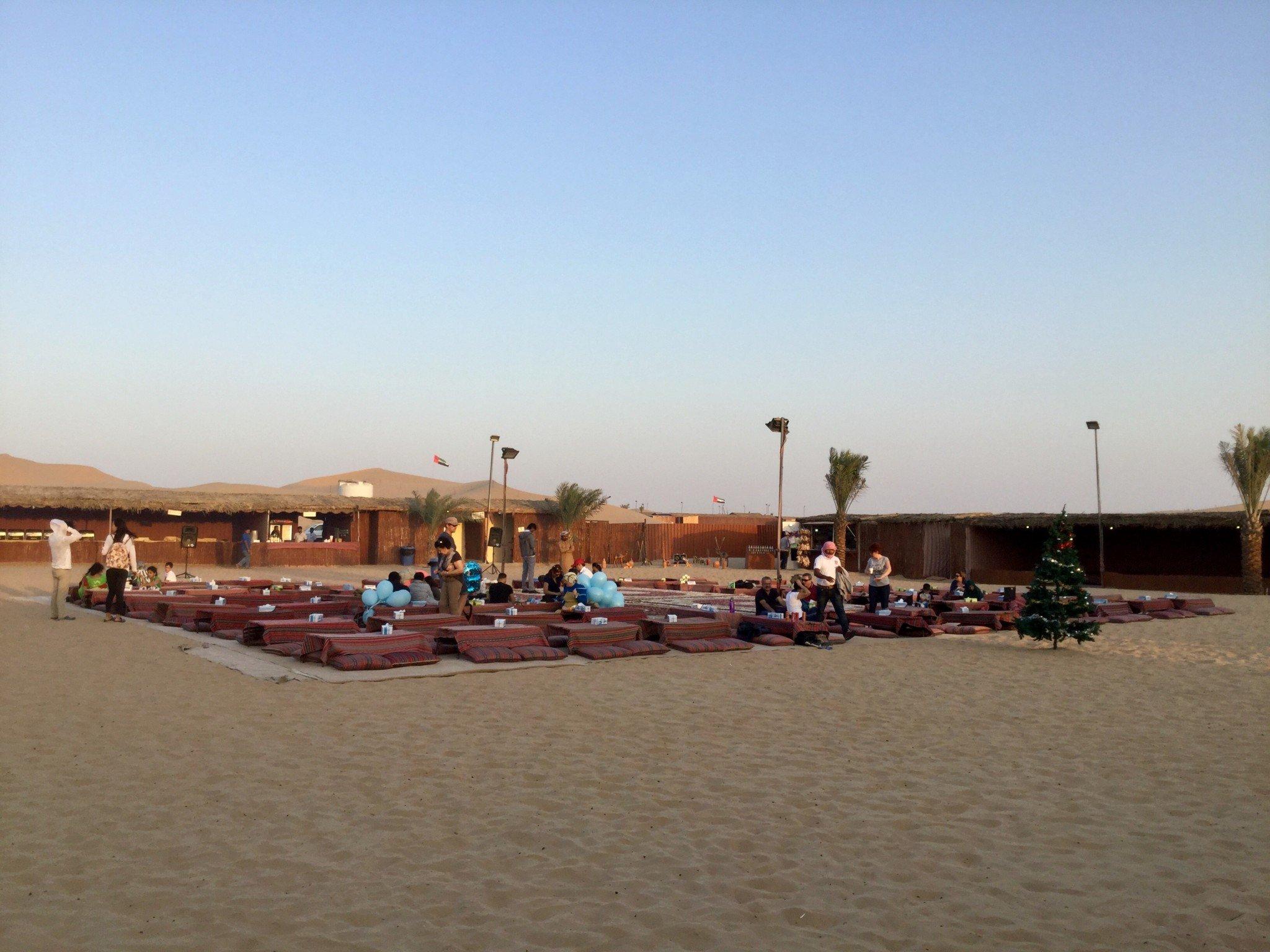 Illallispaikka aavikolla