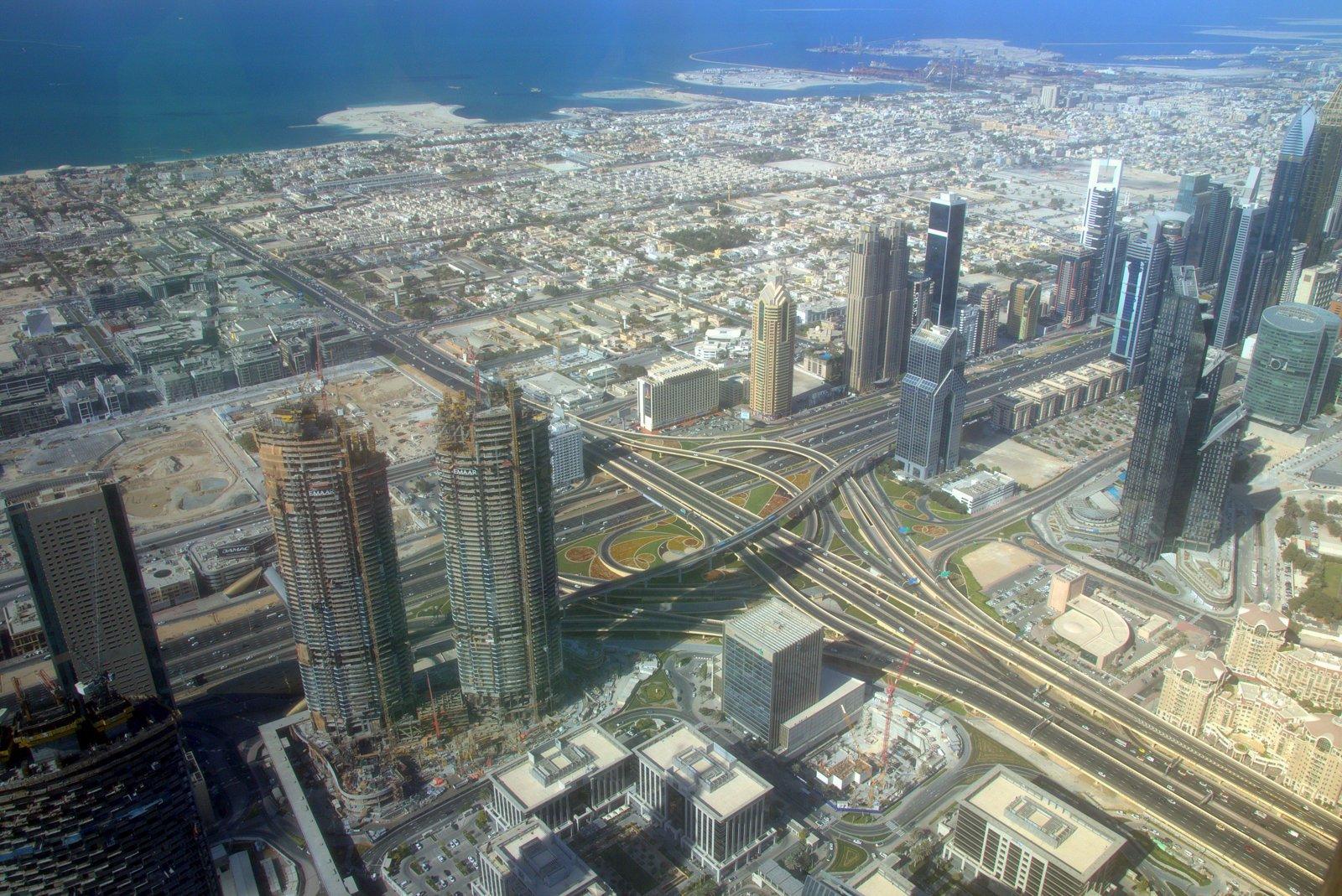 Dubain kaupunkia ylhäältä katsottuna