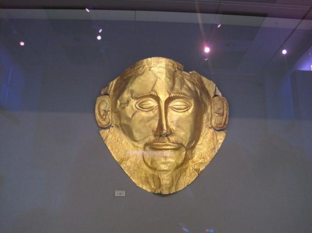 Kuka muistaa tämän Agamemnon naamion kuviksen kirjastaan?