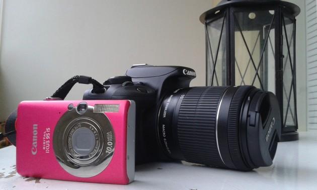Canon EOS100D ja Canon Ixus 95 IS