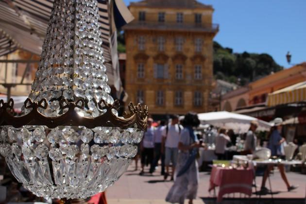 Nizza antiikkimarkkinat Ranska