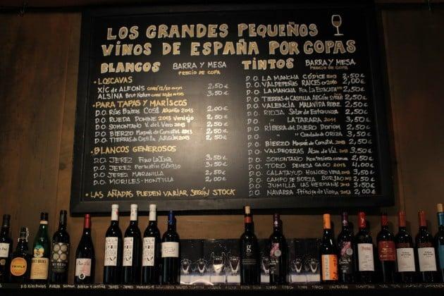 Madrid viini tapakset