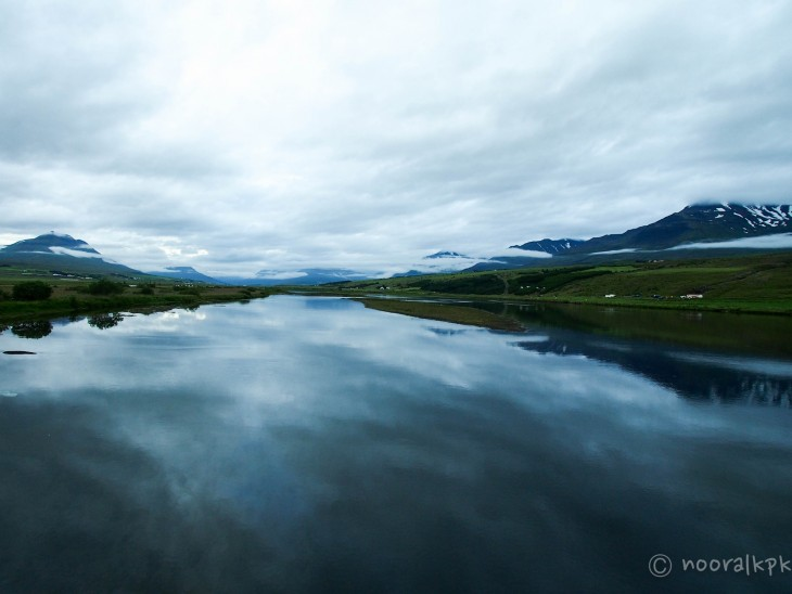 Vuorimaisemaa Akureyrin lähistöllä
