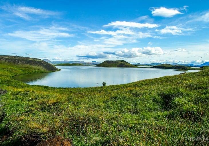 Mývatn-järven pseudokraattereita