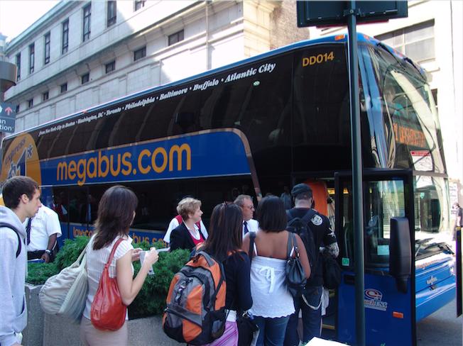 megabus boarding