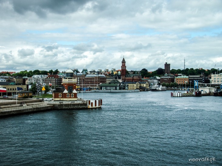 helsingborg from ferry