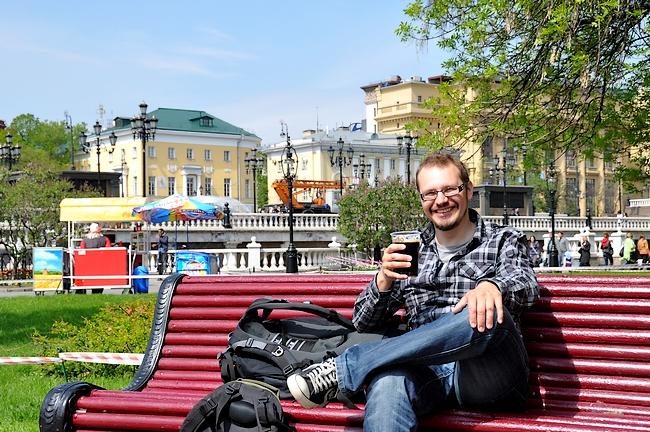Kylmä olut maistuu matkalla hotellille
