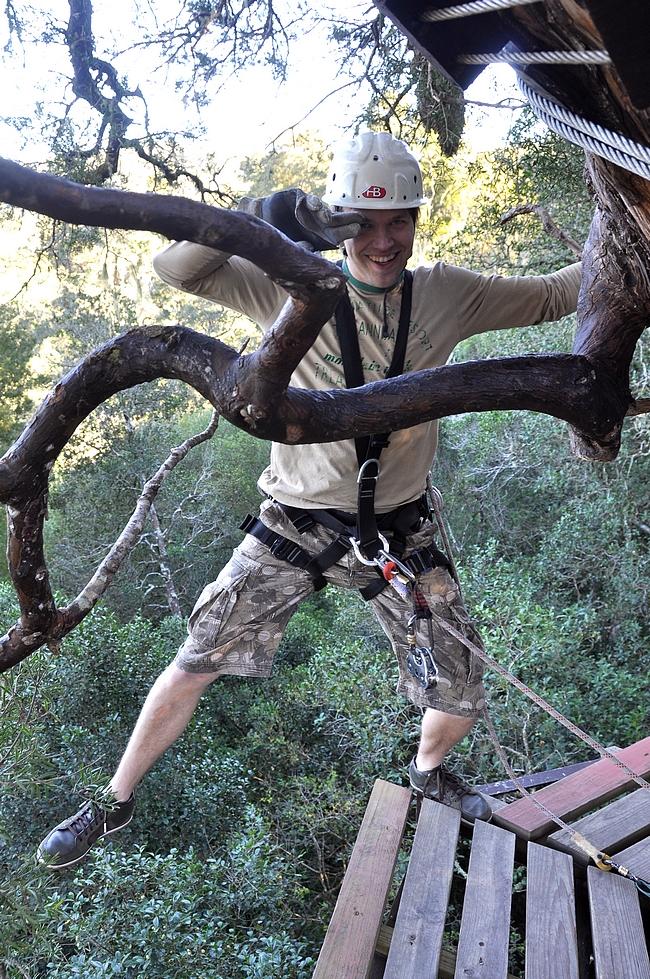 Välillä kikkailtiin niin puussa...