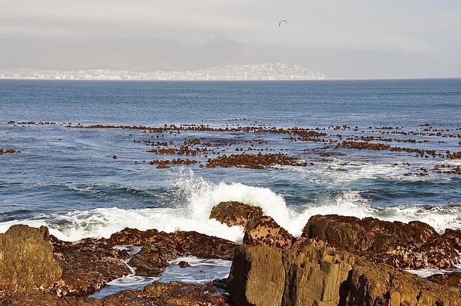 Saaren pohjoiskärjessä oli pysähtymistauko, josta näki hyvin Kapkaupunkiin.