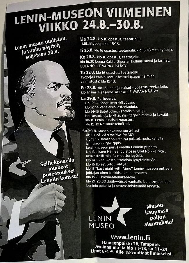 Lenin-museon viimeinen viikko