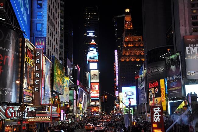 Time Square on illalla kauneimmillaan.