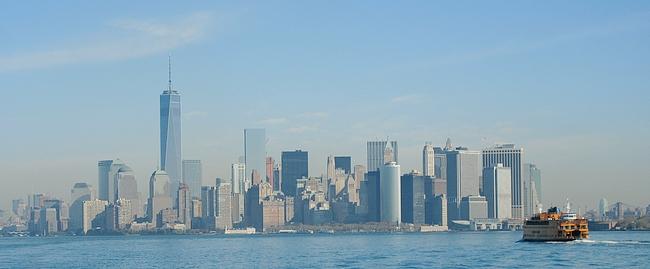Manhattanin eteläkärjen näkee parhaiden Staten Islandin lautalta.