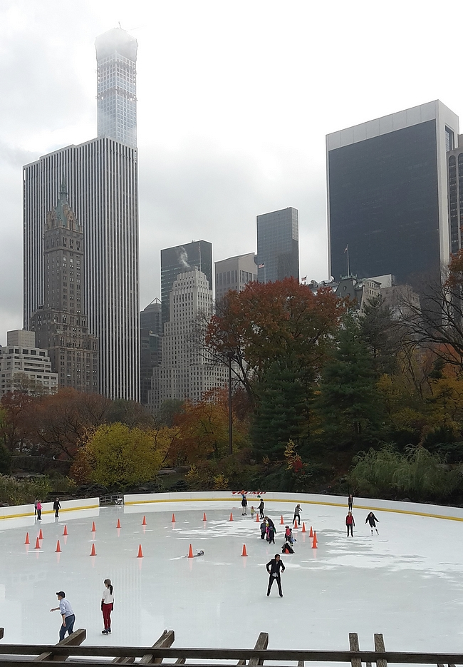 Ennen Rangersin peliä voi käydä tekemässä omat kiemurat Central Parkissa.