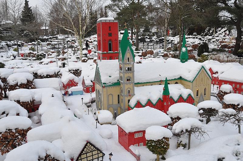 Riben viikinkikaupunki. Pari vuotta aikaisemmin tuli kiivettyä poikien kanssa kyseisen kirkon torniin.