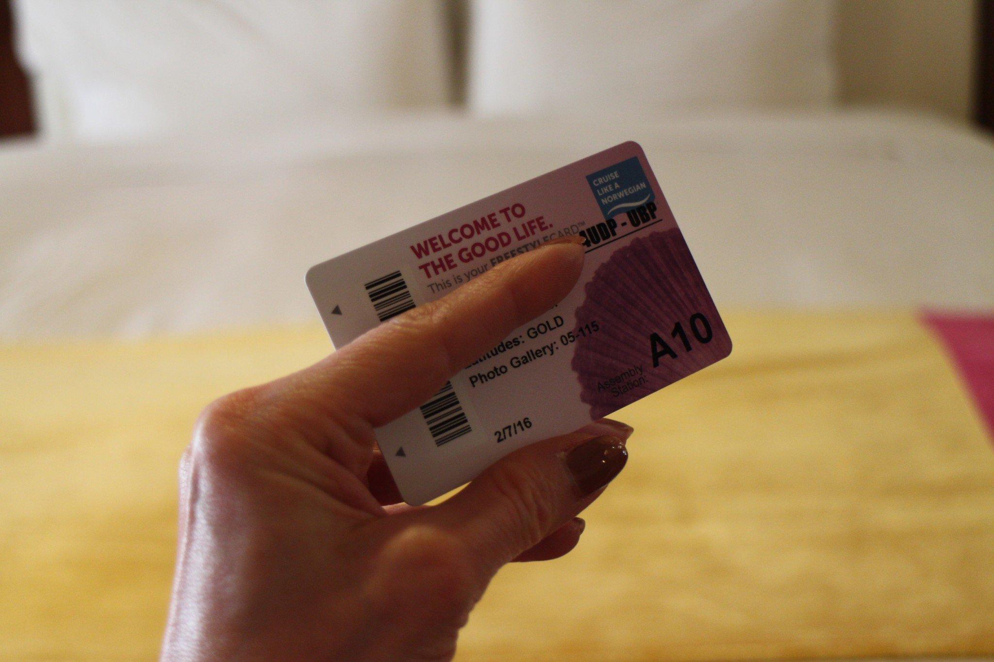 Norwegian Cruise Line Suite key card