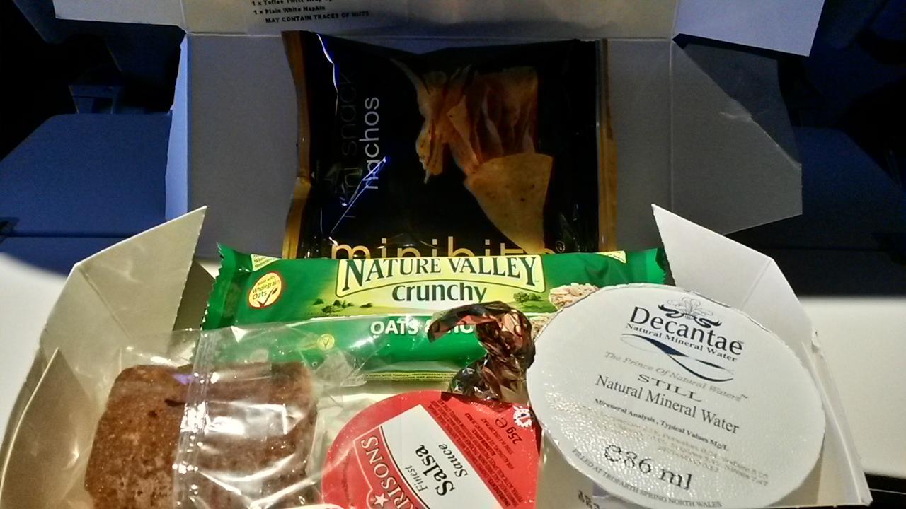 BA A380 Economy snack