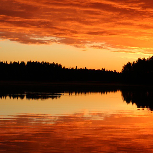 Auringonlasku no filter