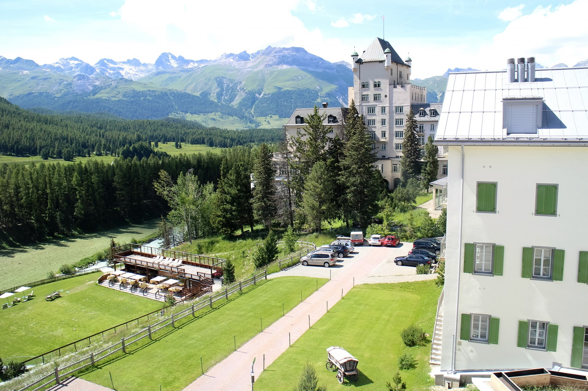 Grand Hotel Kronenhof view from room