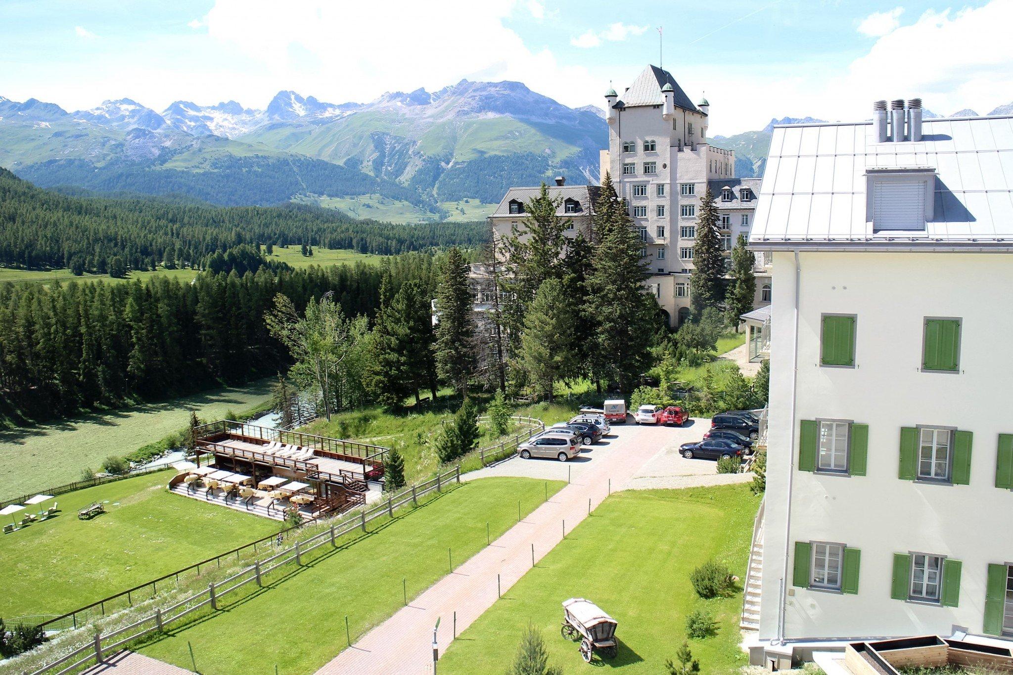 Grand Hotel Kronenhof view from room