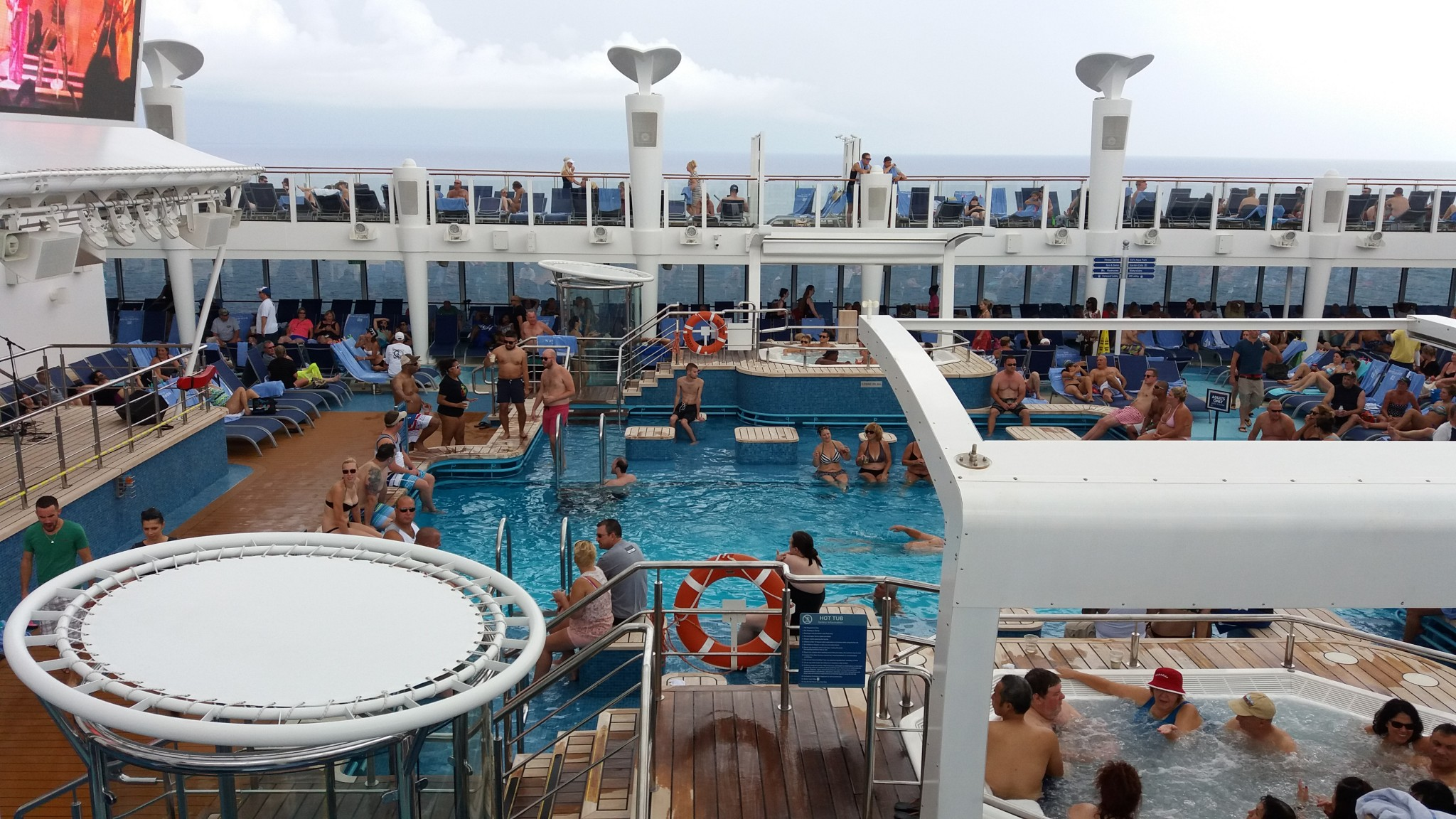 Norwegian Escape Pool deck