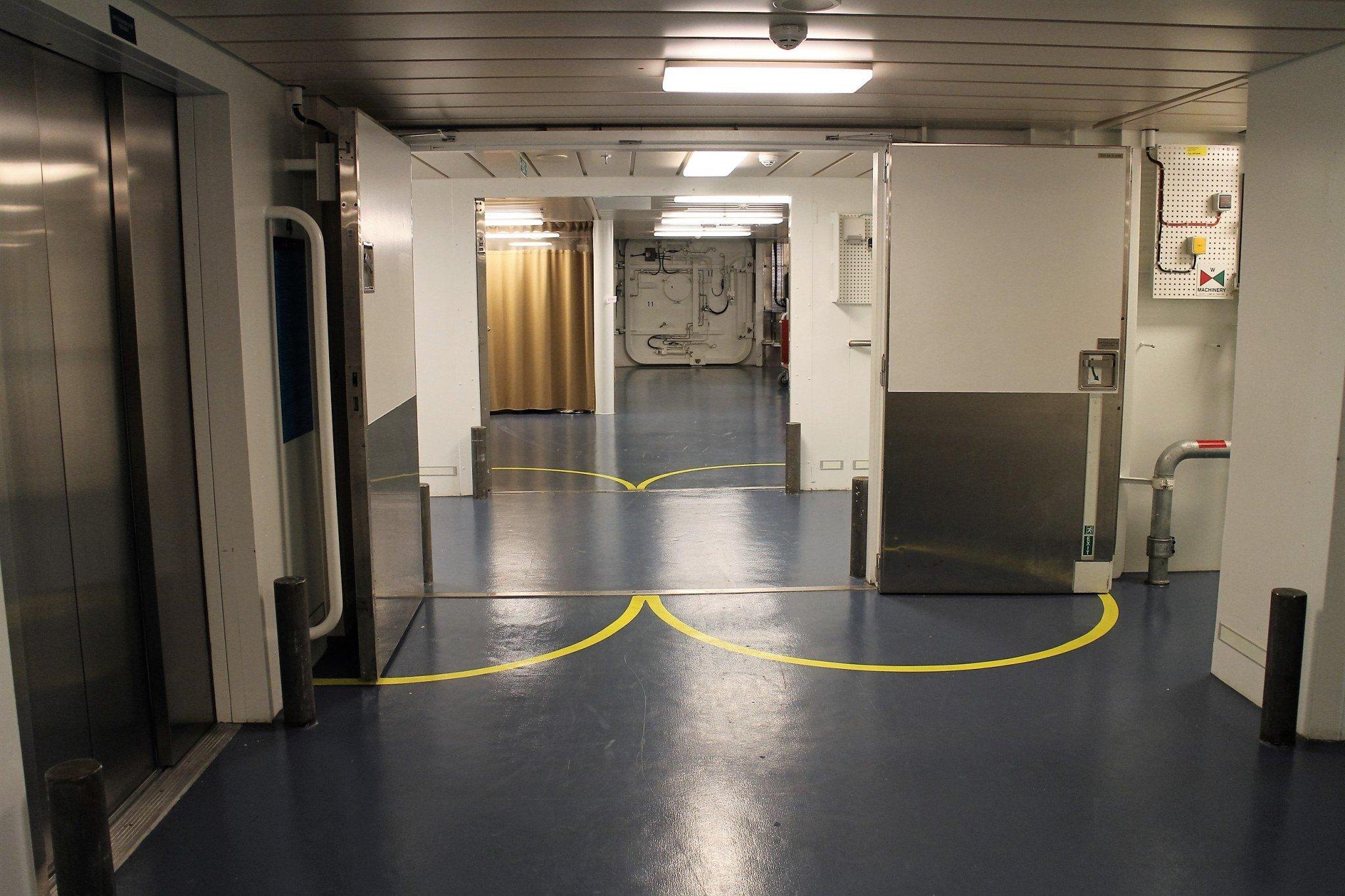 Norwegian Escape Staff staircase