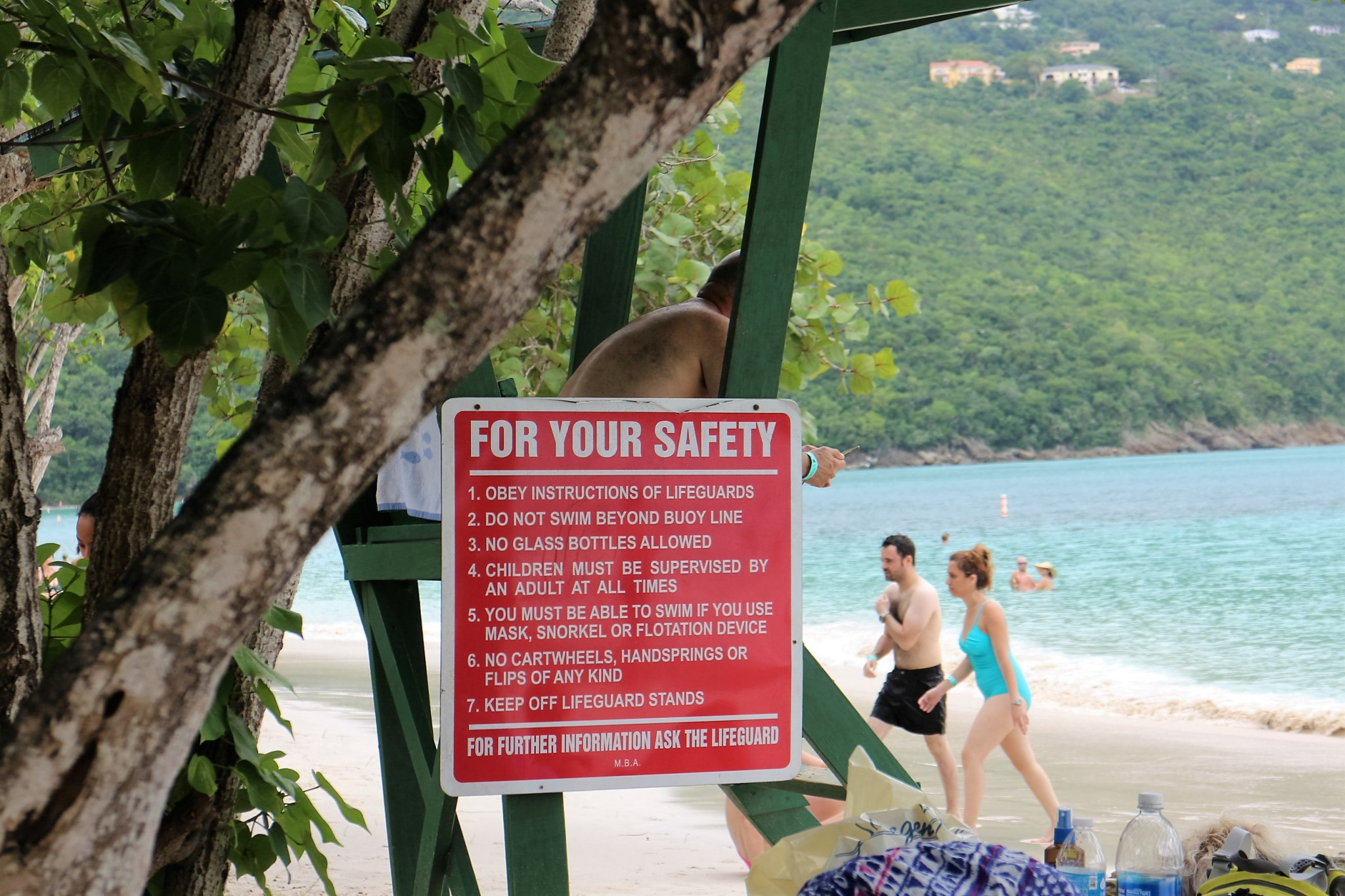 Magens Bay life guard