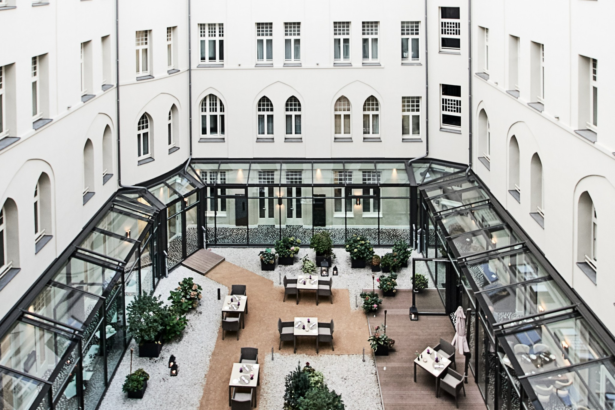 Hotel am Steinplatz Courtyard