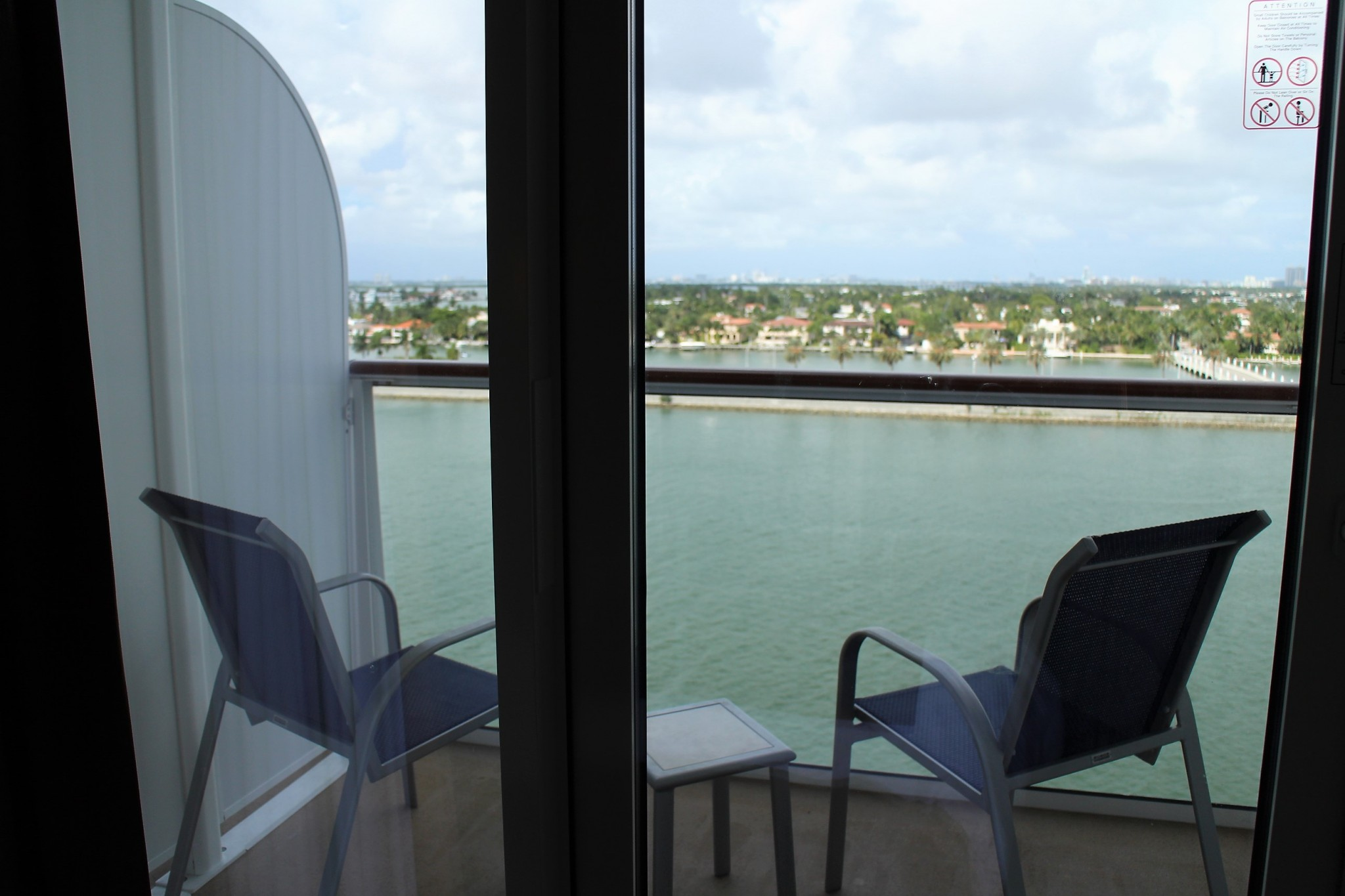 Norwegian Escape Mini-Suite balcony size