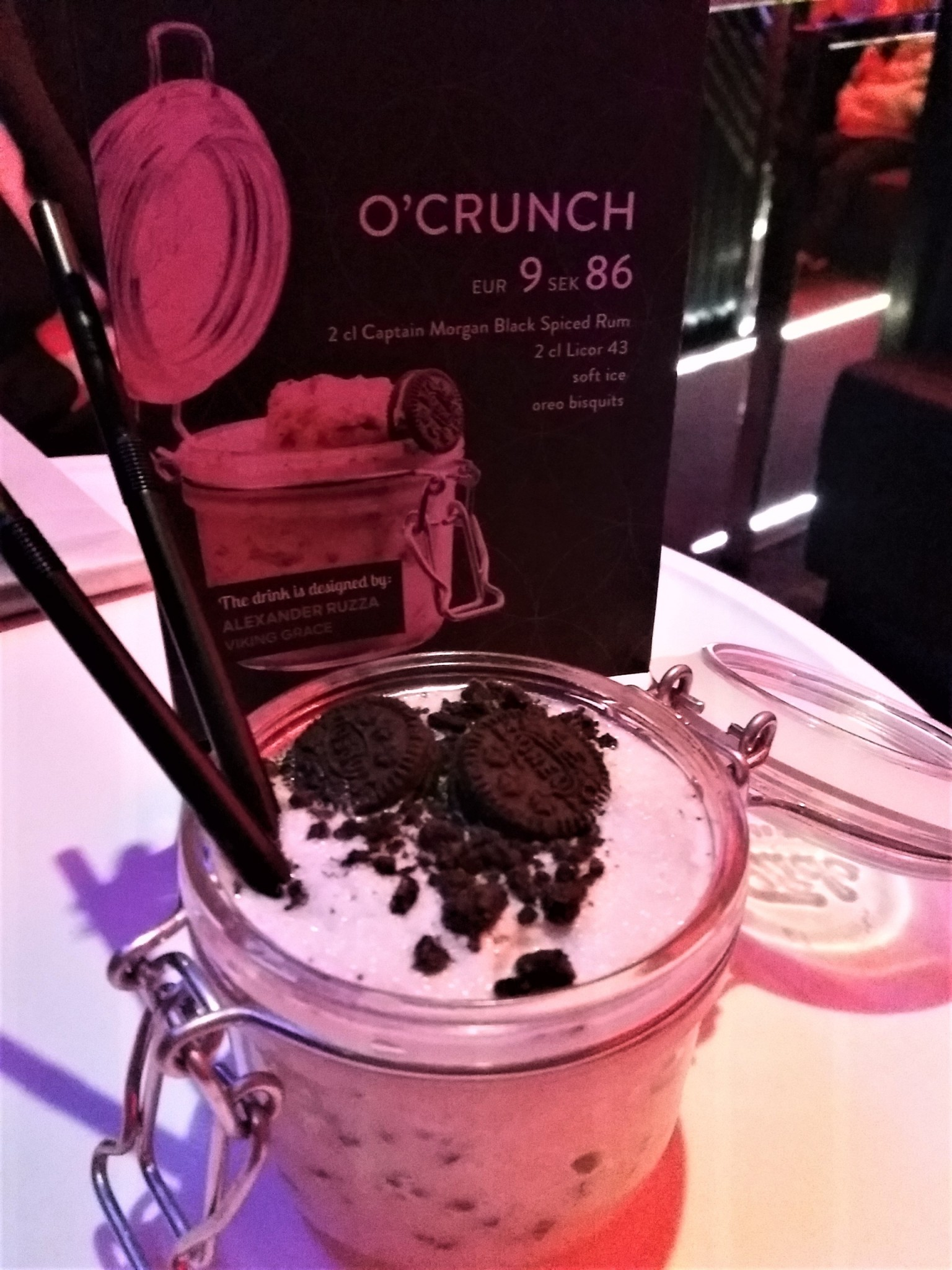 Viking Grace Viking Line O'Crunch drinkki