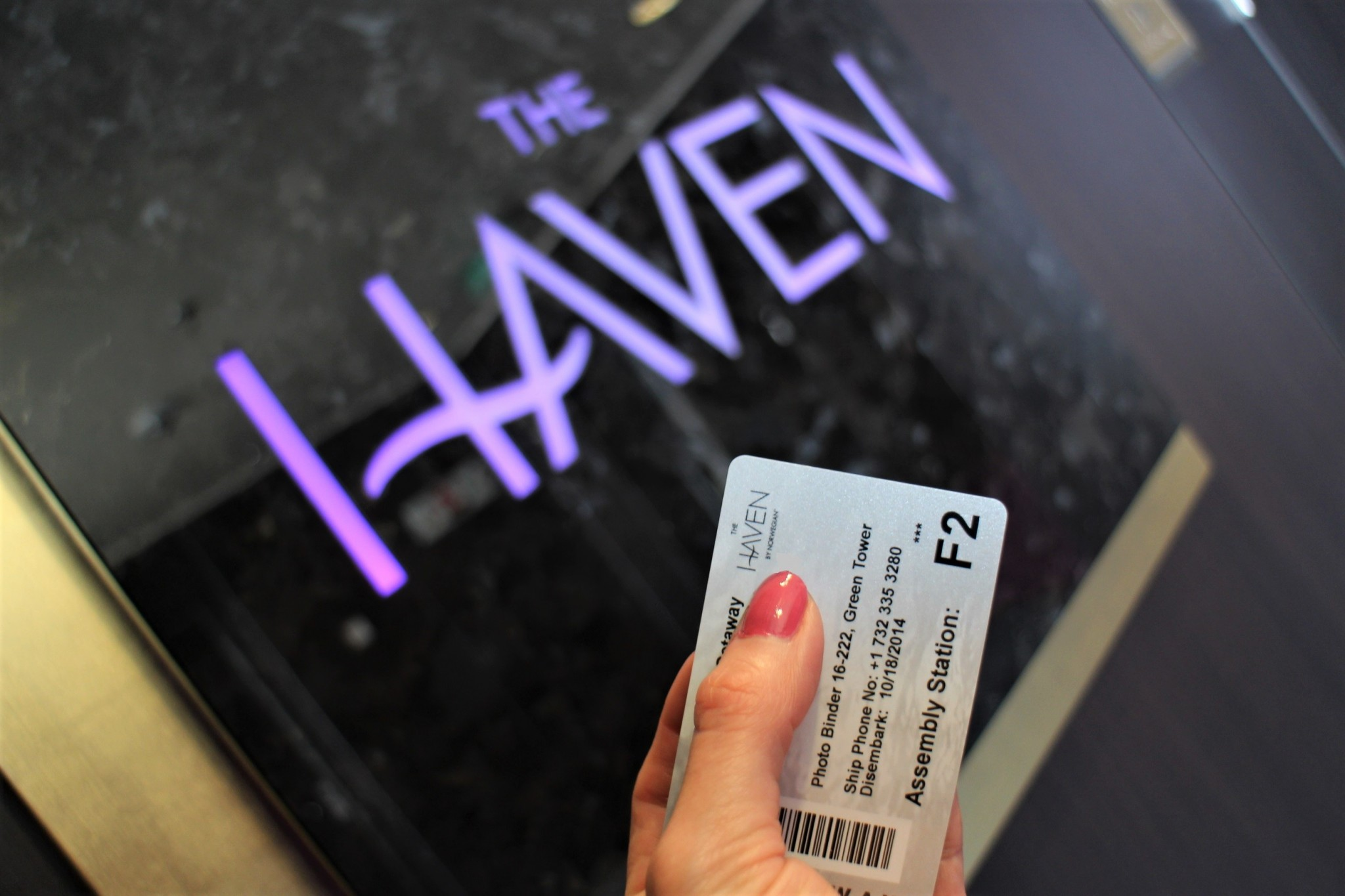 Norwegian Getaway The Haven Platinum card