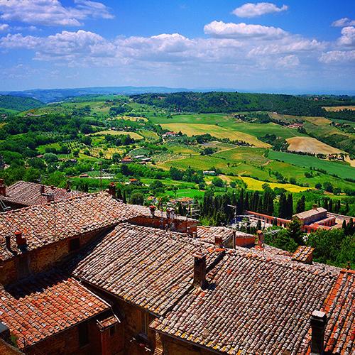 Toscanan maisemia