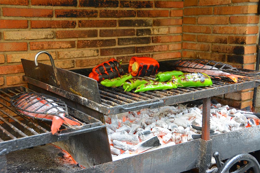 Ravintolan grilli Getariassa