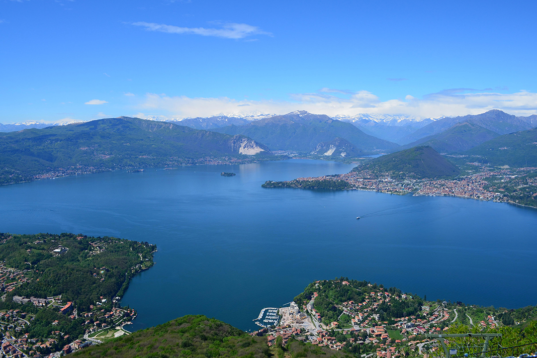 Lago Maggiore Sasso del Ferrolta nähtynä