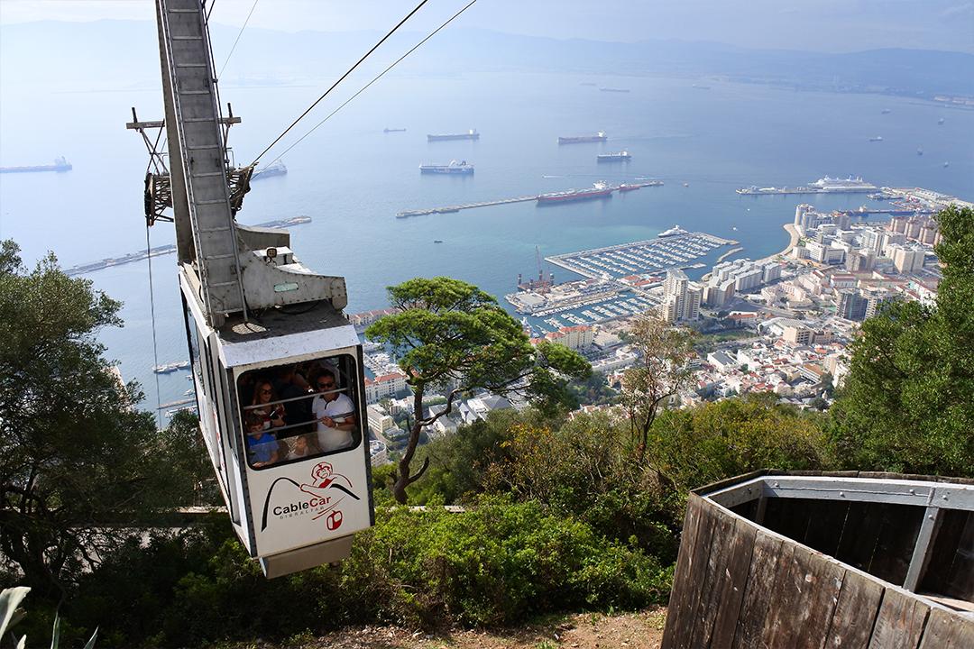 Köysirata Gibraltarinvuoren huipulle