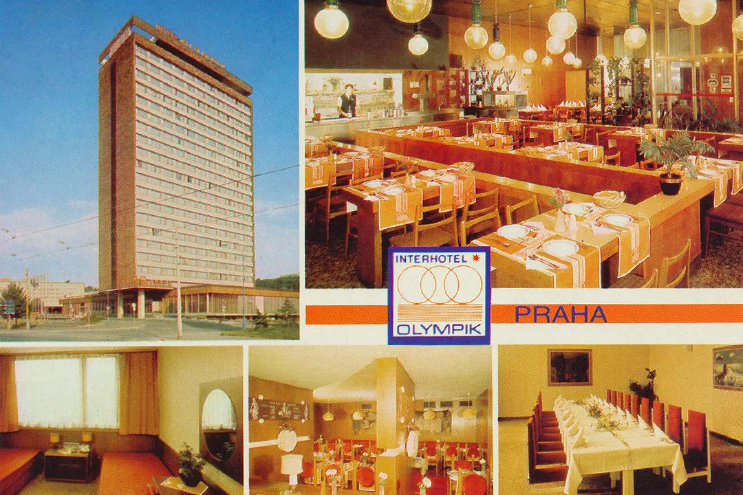 Interhotel Olympik -postikortti Prahasta
