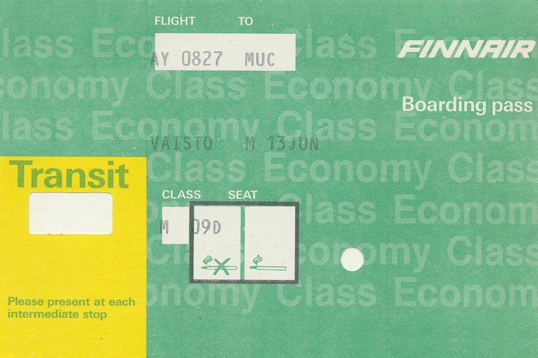 1980-luvun Boarding Pass